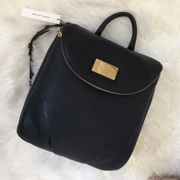 on feet shots of search for original latest collection NWT Marc Jacobs Black Leather Backpack Purse
